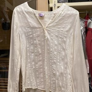 Lucky Brand Peasant Blouse Like New Size Large